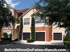 Distinctive styling and a one-car garage are some of the features enjoyed by residents of Palmer Ranch's Bella Villino neighborhood.
